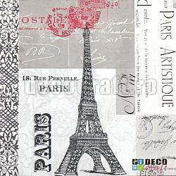 Servetele - Paris Artistique - 33x33cm, 4 buc.