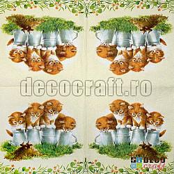 Servetele - Patru pisici - 33x33cm, 4 buc.