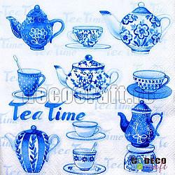 Servetele - Poftiti la ceai - 33x33cm, 4 buc