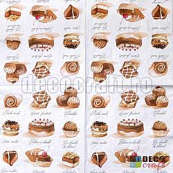 Servetele - Prajituri mici - 33x33cm, 4 buc.