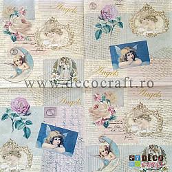 Servetele - Romantic Angels - 33x33cm, 4buc