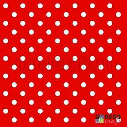Servetele - Rosu cu buline - 33x33cm, 4 buc.