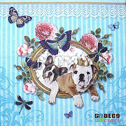 Servetele - Royal Dogs - 33x33cm, 4 buc