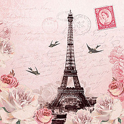 Servetele - Scrisoare catre Paris - 33x33cm, 4 buc.