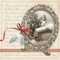Servetele - Scrisoare de Craciun - 33x33cm, 4 buc