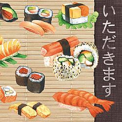 Servetele - Sushi - 33x33cm, 4 buc.