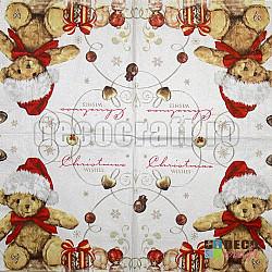 Servetele - Teddy costumat - 33x33cm, 4 buc