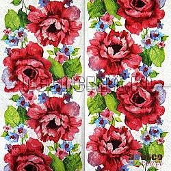 Servetele - Trandafiri in acuarela - 33x33cm, 4 buc.