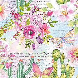 Servetele - Trandafiri & Cactusii - 33x33cm, 4 buc.