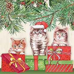 Servetele - Trei pisici - 33x33cm, 4 buc