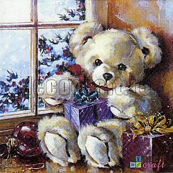Servetele - Ursulet Teddy de Craciun - 33x33cm, 4 buc.