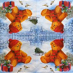 Servetele - Ursuletul Paul - 33x33cm, 4 buc