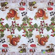 Servetele - Veverita din padure - 33x33cm, 4 buc