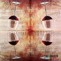 Servetele - Vin rosu - 33x33cm, 4 buc