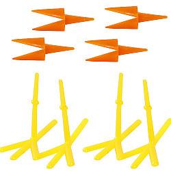 Set 4 picioare de gaina (L: 37 mm, H: 28 mm) si 2 ciocuri (30 mm)