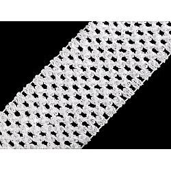 Bandă elastica croșetată TUTU la metru, lățime 7 cm - alb