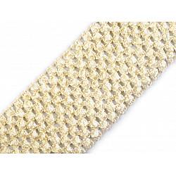 Bandă elastica croșetată TUTU la metru, lățime 7 cm - galben vanilie