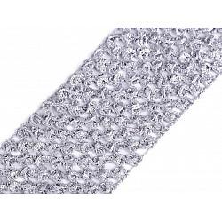 Bandă elastica croșetată TUTU la metru, lățime 7 cm - gri foarte deschis