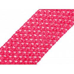 Bandă elastica croșetată TUTU la metru, lățime 7 cm - roz zmeur