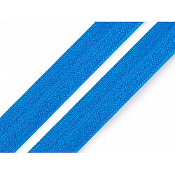 Elastic bias la metru, lățime 19 mm - albastru intens
