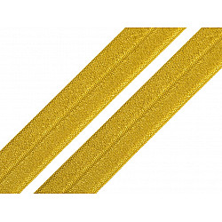Elastic bias la metru, lățime 19 mm - galben muștar