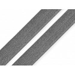 Elastic bias la metru, lățime 19 mm - gri praf