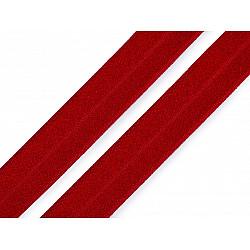 Elastic bias la metru, lățime 19 mm - roșu închis
