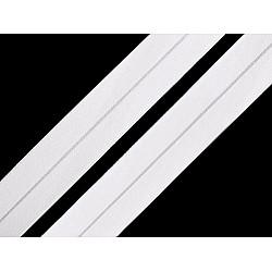 Elastic bias mat, lățime 20 mm (card 20 m) - alb