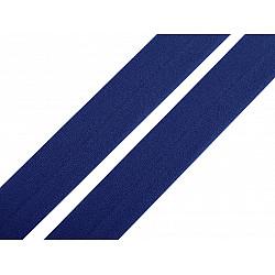 Elastic bias mat, lățime 20 mm (card 20 m) - albastru delta