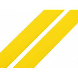 Elastic bias mat, lățime 20 mm (card 20 m) - galben