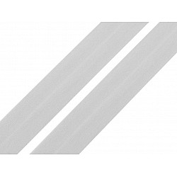 Elastic bias mat, lățime 20 mm (card 20 m) - gri foarte deschis