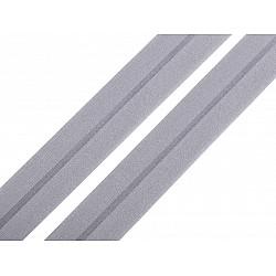 Elastic bias mat, lățime 20 mm (card 20 m) - gri porumbel