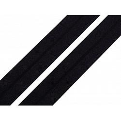 Elastic bias mat, lățime 20 mm (card 20 m) - negru