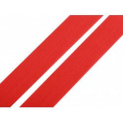 Elastic bias mat, lățime 20 mm (card 20 m) - roșu