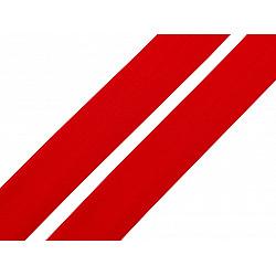 Elastic bias mat, lățime 20 mm (card 20 m) - roșu - deschis