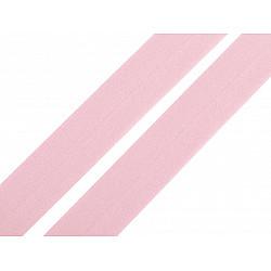 Elastic bias mat, lățime 20 mm (card 20 m) - roz deschis