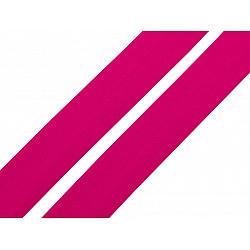 Elastic bias mat, lățime 20 mm (card 20 m) - roz zmeura