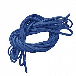 Snur faux suede, 3mm - Albastru