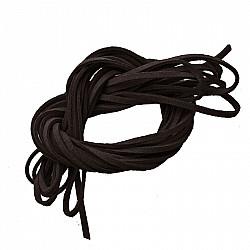 Snur faux suede, 3mm - Negru