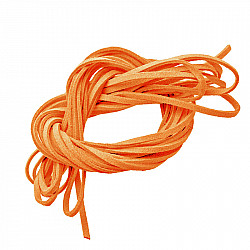 Snur faux suede, 3mm - Orange