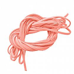 Snur faux suede, 3mm - Roz