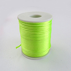 Snur satinat, 2mm - Verde fluorescent