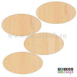 Taguri din lemn - Oval - 14x7.7cm, 4 buc.