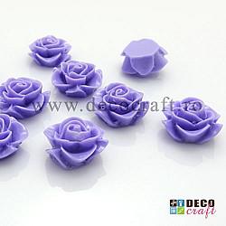 Trandafiri acril - Lila - 18 mm, 10 buc
